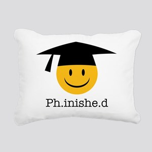 phd smiley Rectangular Canvas Pillow