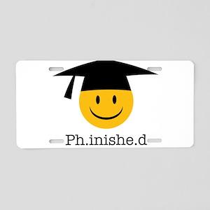 phd smiley Aluminum License Plate