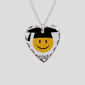 phd smiley Necklace Heart Charm