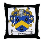 Palmer Family Crest Throw Pillow