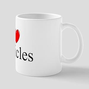 """I Love (Heart) Testicles"" Mug"