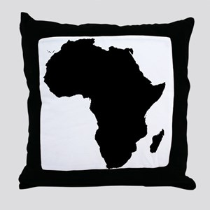 Africa Map Throw Pillow