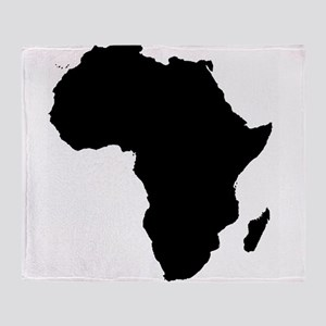 Africa Map Throw Blanket