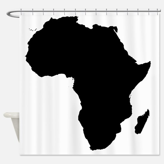 Africa Map Shower Curtain