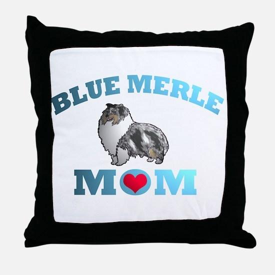Blue Merle Sheltie Throw Pillow