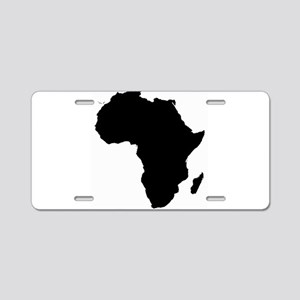 Africa Map Aluminum License Plate