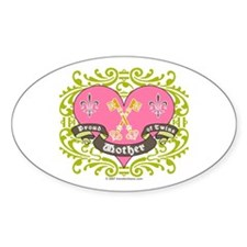 Mother of Twins - Oval Sticker
