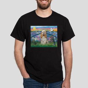 Lilies /Cocker Spaniel Dark T-Shirt