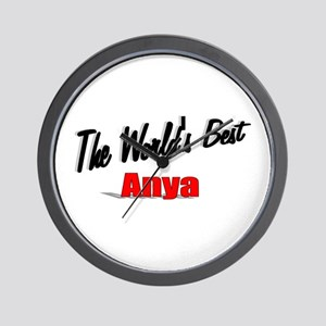 """The World's Best Anya"" Wall Clock"