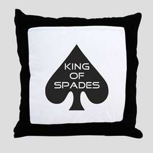 Spades King Throw Pillow