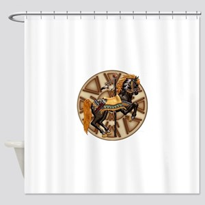 Harvest Moons Plains Pony Shower Curtain