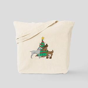 Reindeer & Weimaraner Christmas Tote Bag