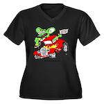 HBS FINK Women's Plus Size V-Neck Dark T-Shirt