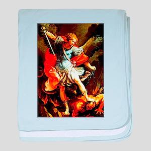 St Michael the Archangel baby blanket