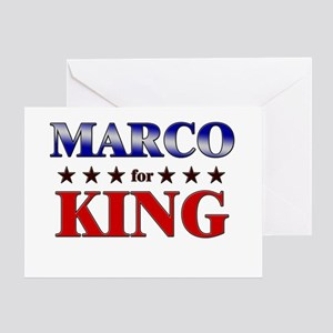 MARCO for king Greeting Card