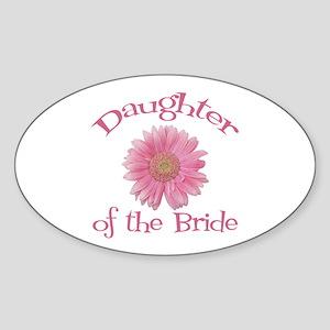 Daisy Bride's Daughter Oval Sticker
