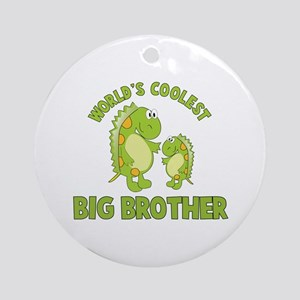 world's coolest big brother dinosaur Ornament (Rou