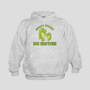 world's coolest big brother dinosaur Kids Hoodie