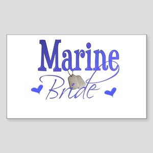 Marine Bride Rectangle Sticker