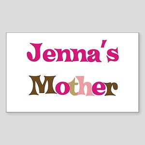 Jenna's Mother Rectangle Sticker