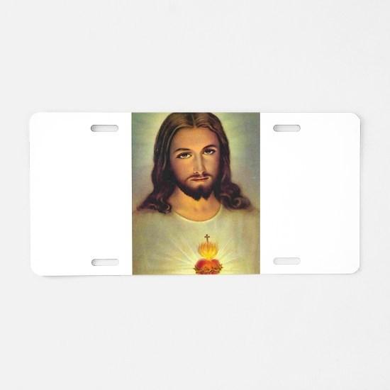Sacred Heart of Jesus Aluminum License Plate