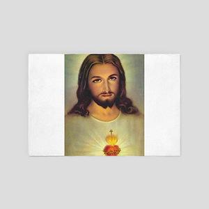 Sacred Heart of Jesus 4' x 6' Rug