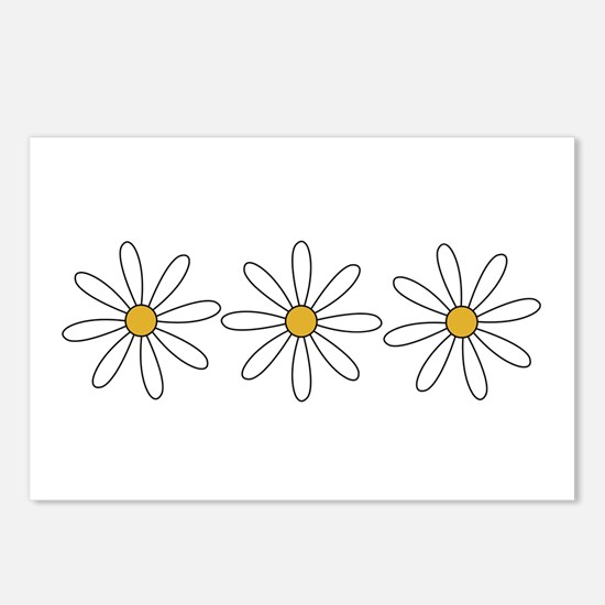 Unique Yellow daisy Postcards (Package of 8)