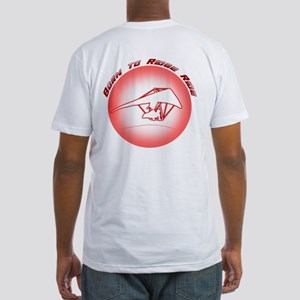 Hang Gliding Ridge Ride Red Fitted T-Shirt