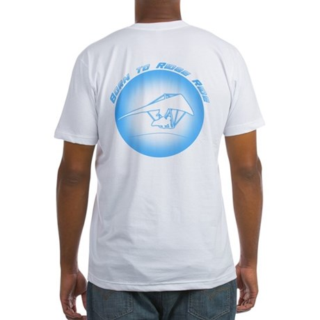 Hang Gliding Ridge Ride Lt Blue Fitted T-Shirt
