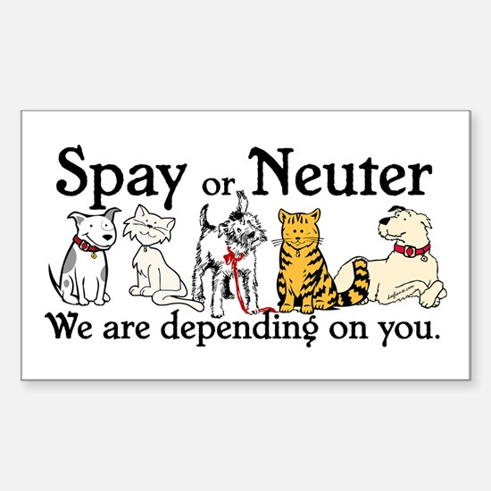 Spay or Neuter - Depending On You Decal