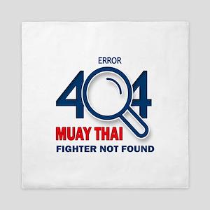 Error 404 Muay Thai Fighter Not Found Queen Duvet