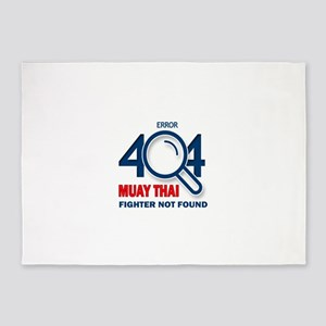 Error 404 Muay Thai Fighter Not Fou 5'x7'Area Rug