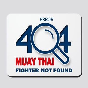 Error 404 Muay Thai Fighter Not Found Mousepad