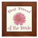 Daisy Bride's Best Friend Framed Tile