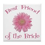 Daisy Bride's Best Friend Tile Coaster