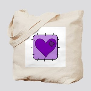Purple Heart Patch Tote Bag