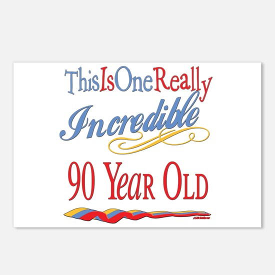Incredible At 90 Postcards (Package of 8)
