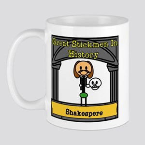Great Stickmen In History: Shakespere Mug