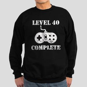 Level 40 Complete 40th Birthday Sweatshirt