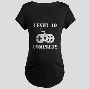 Level 40 Complete 40th Birthday Maternity T-Shirt