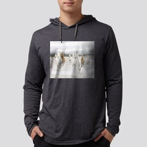 Horses Running On The Beach Long Sleeve T-Shirt