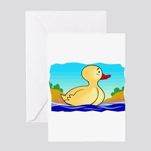 LITTLE YELLOW DUCKIE Greeting Card