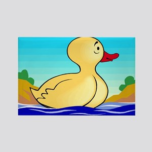 LITTLE YELLOW DUCKIE Rectangle Magnet