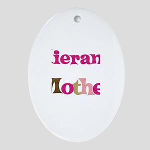 Kieran's Mother  Oval Ornament