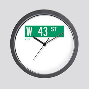 43rd Street in NY Wall Clock