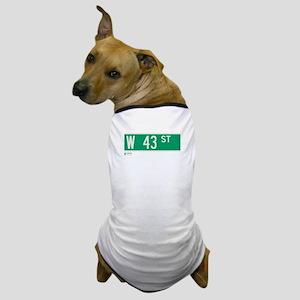 43rd Street in NY Dog T-Shirt