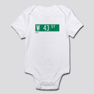 43rd Street in NY Infant Bodysuit