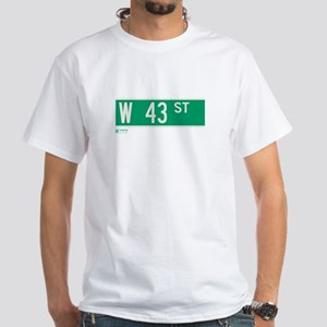 43rd Street in NY White T-Shirt
