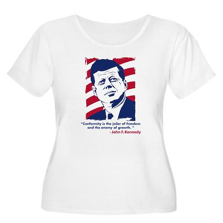 JFK Quotation Women's Plus Size Scoop Neck T-Shirt