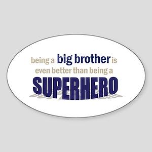 big brother t-shirt superhero Oval Sticker